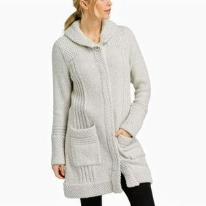 Prana Grey Elsin Sweater Coat Size XS